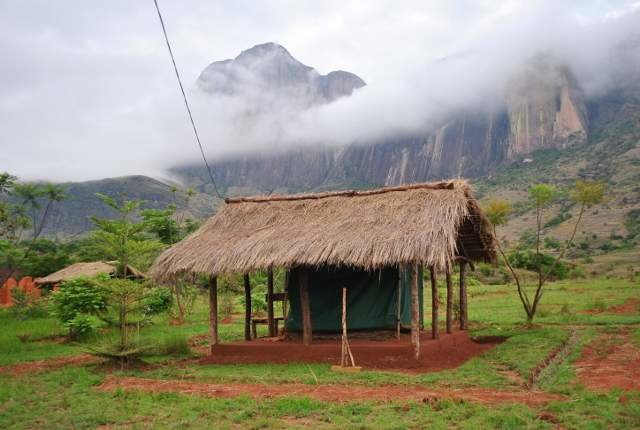 A countryside village of Ampefy volcanic area