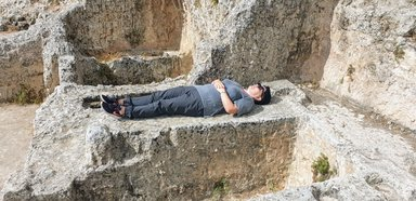 Раскопки. Погребальная пещера периода Первого Храма.