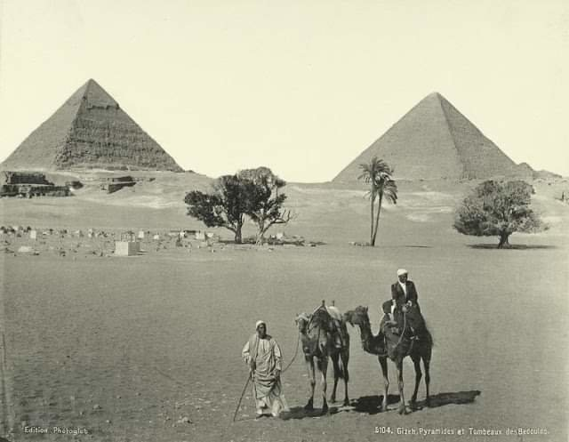Old photo of the pyramids