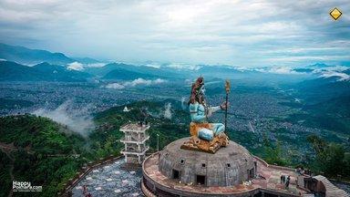Latest Shiva Image from top of Pumdikot, Pokhara