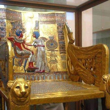 Golden throne of the king Tut Ankh Amun