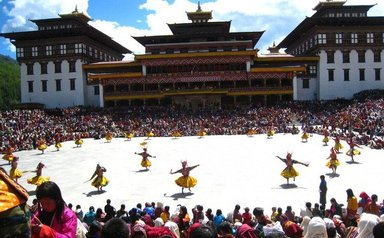 festival Thimpu Bhutan