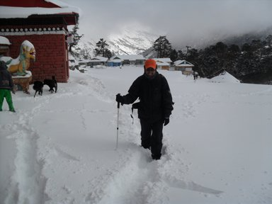 Famous Tengboche monastery area Everest region