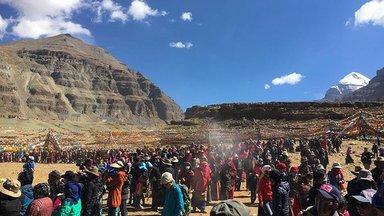 During Sagadawa festival Tibet