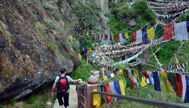 Way to Tiger Nest Bhutan