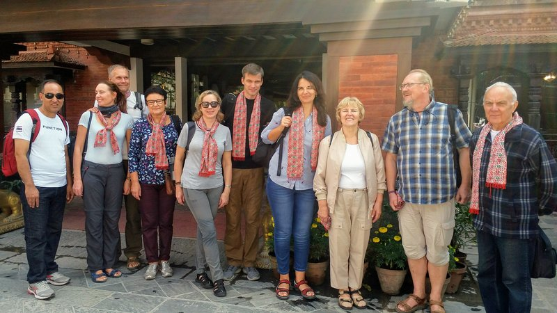 Nepal Tibet Bhutan Tour group from Lithuania