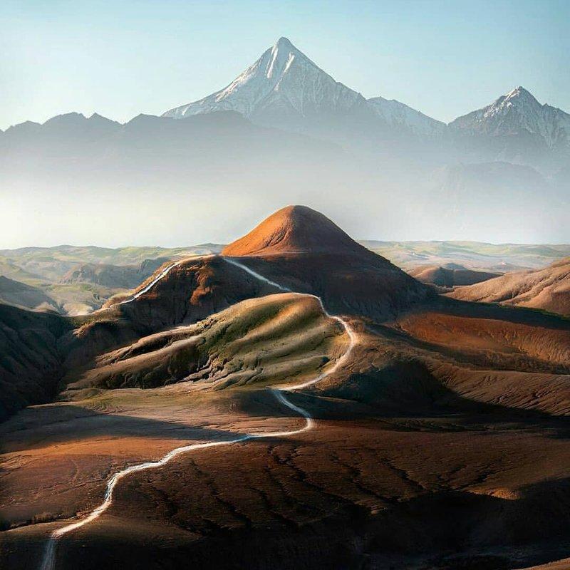 Agafay Desert and Atlas mountains
