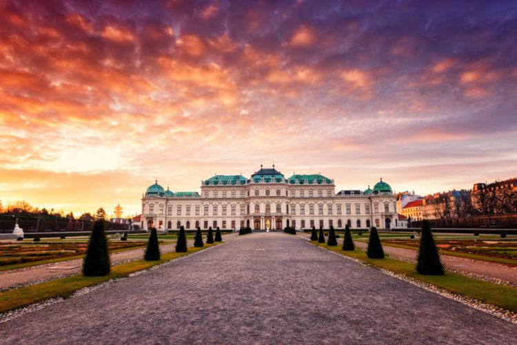 Достопримечательности Австрии - Дворец Бельведер