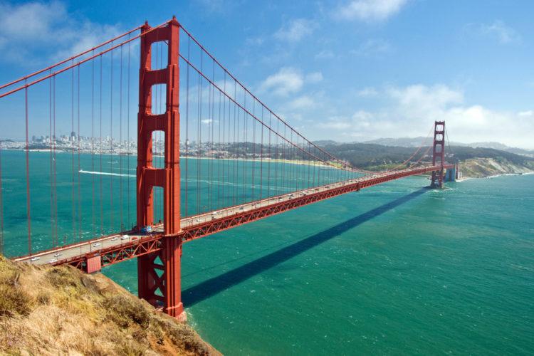 Достопримечательности США - Мост {amp}quot;Золотые ворота{amp}quot;