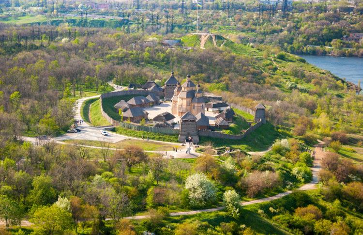 Достопримечательности Украины - Остров Хортица