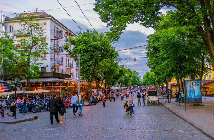 Достопримечательности Украины - Дерибасовская улица