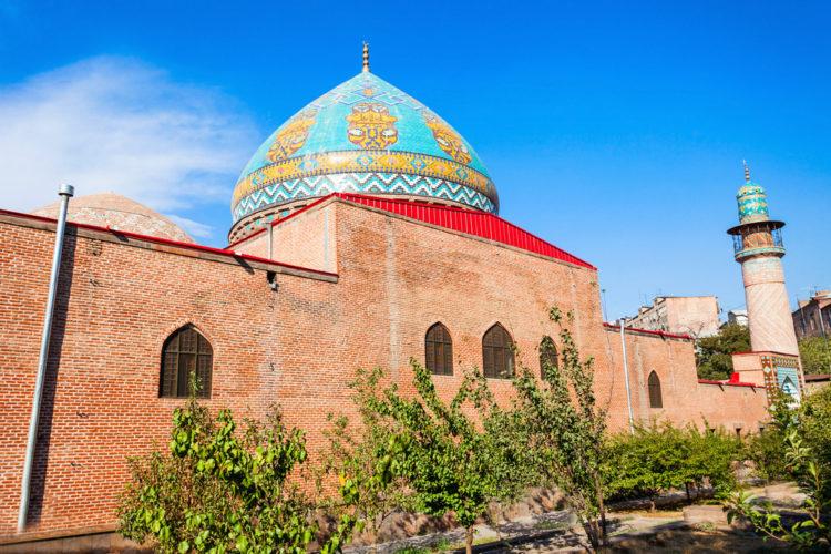 Достопримечательность Армении - Голубая мечеть