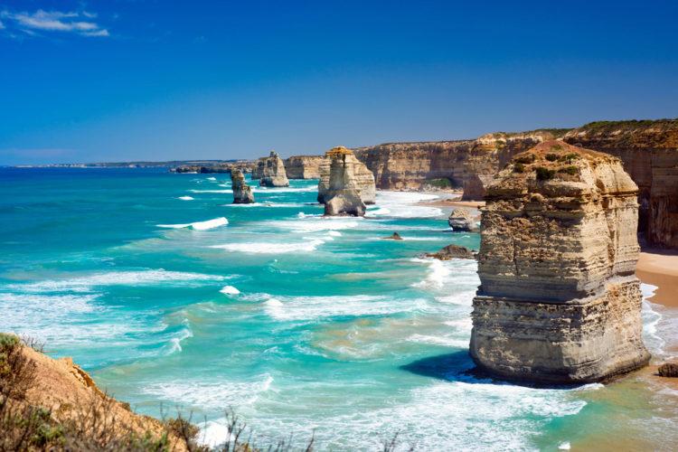 """Что посмотреть в Австралии - Скалы """"Двенадцать апостолов"""""""