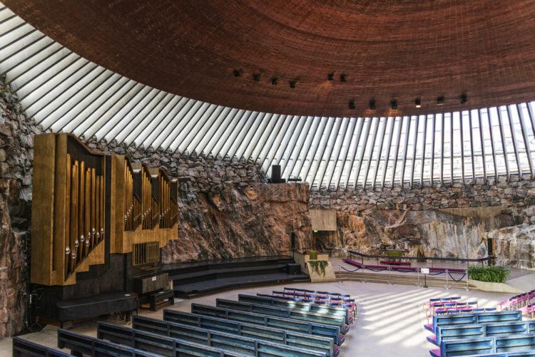 Достопримечательности Финляндии - Церковь в скале