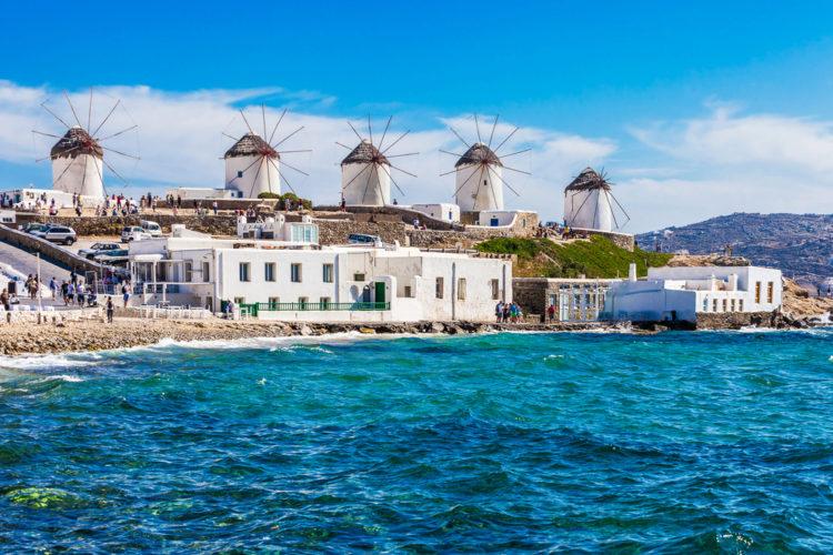 Что посмотреть в Греции - Ветряные мельницы Миконоса