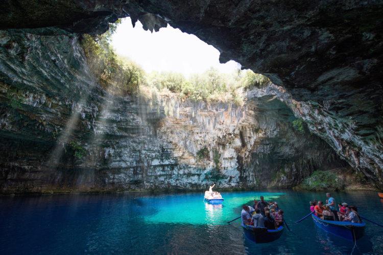 Достопримечательности Греции - Пещерное озеро Мелиссани
