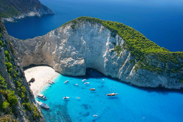 Достопримечательности Греции - Пляж Навагио