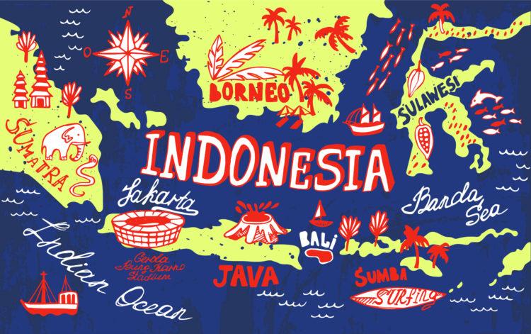 Остров Ява в Индонезии с удивительным вулканом!