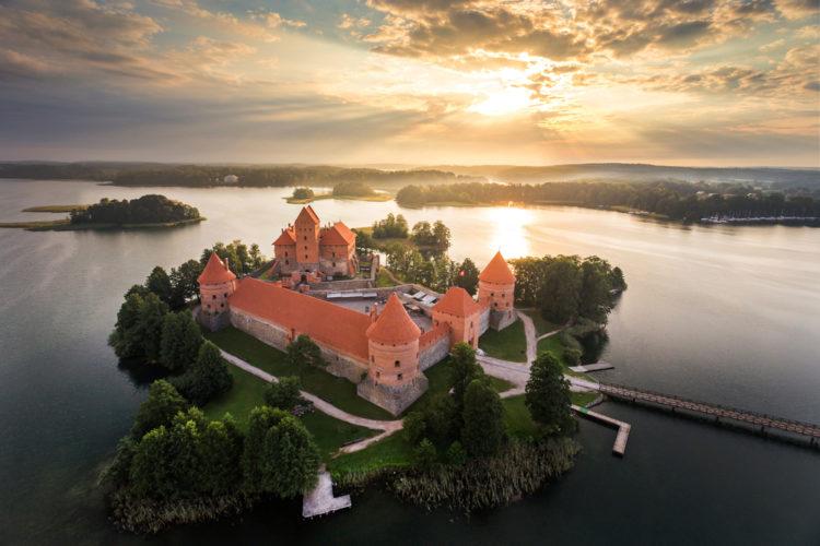 Достопримечательности Литвы - Тракайский замок