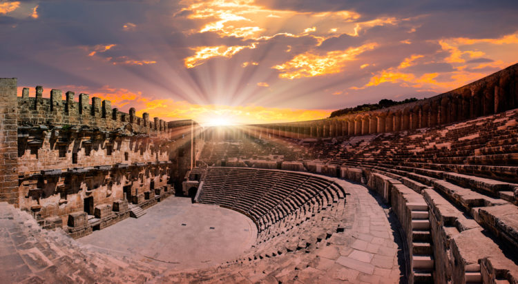 Достопримечательности Турции - Амфитеатр Аспендоса