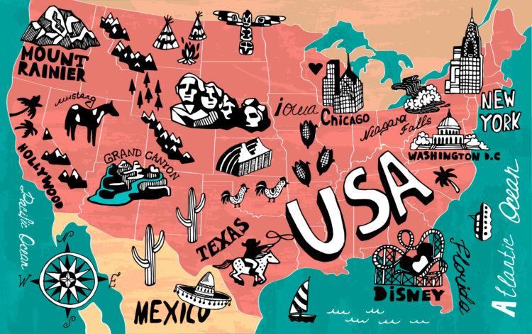 Северная Каролина на карте США Фото города столица климат достопримечательности что посмотреть туристу