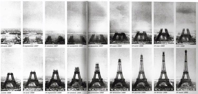 Строительство Эйфелевой башни