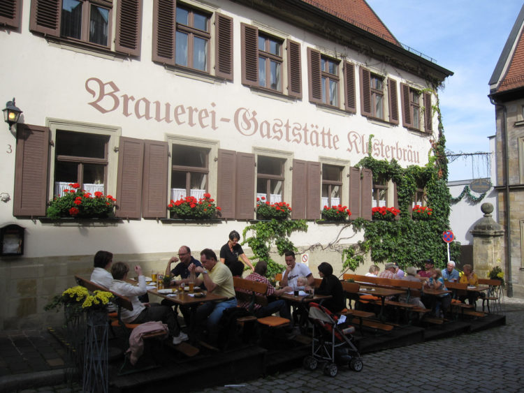 Пивоваренный завод - ресторан Klosterbrau в Бамберге