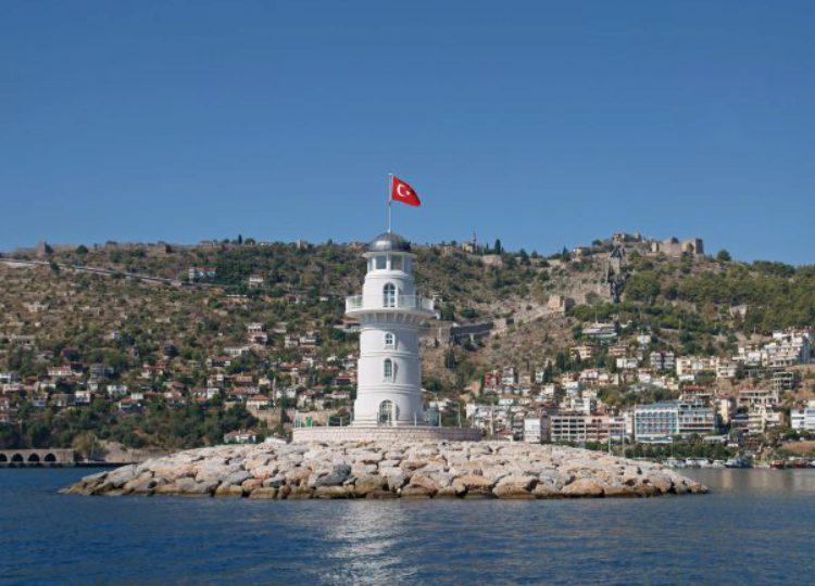 Маяк в Аланье в Турции