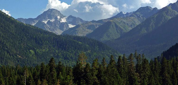 Гора София (3637 м) - красивейшая гора в окрестностях Архыза, в Карачаево-Черкесии. Россия