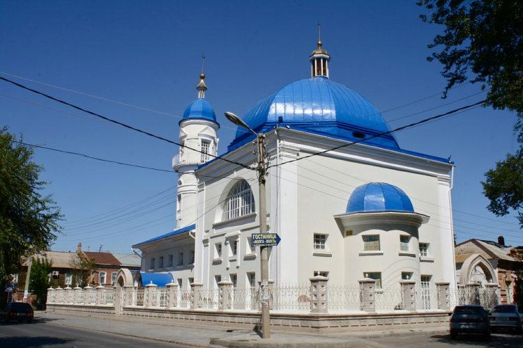 Белая мечеть в городе Астрахань - достопримечательность России