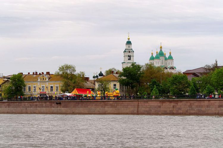 Вид города Астрахань, Россия