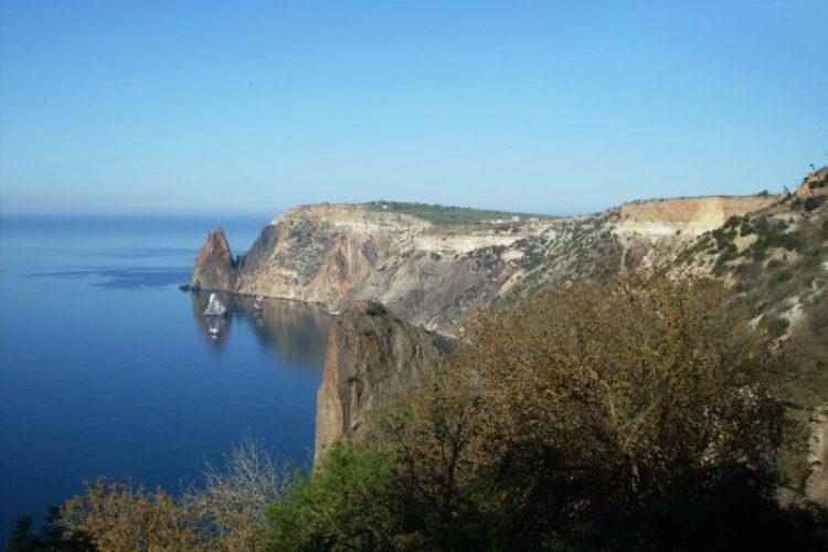 Мыс Фиолент в Балаклаве в Крыму, Россия