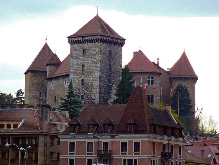 Замок Аннеси в Анси во Франции