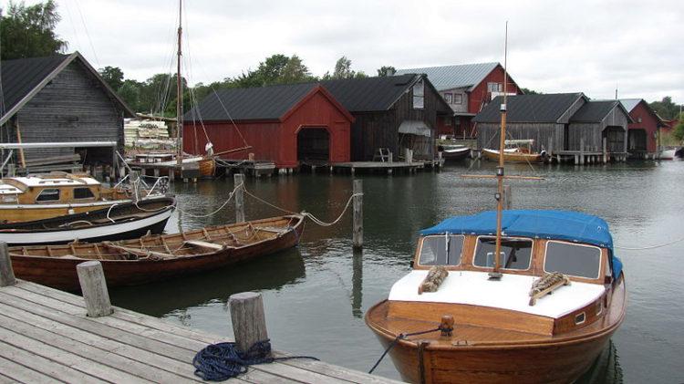 Рыбалка в Мариехамне на Аландских островах в Финляндии