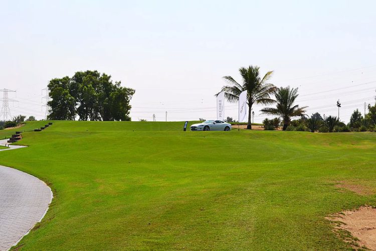Поле для гольфа в Абу-Даби, ОАЭ