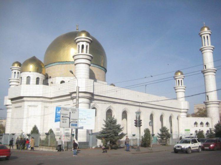 Центральная мечеть в Алма-Ате в Казахстане