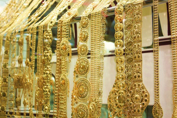Золотой базар а Абу-Даби в ОАЭ