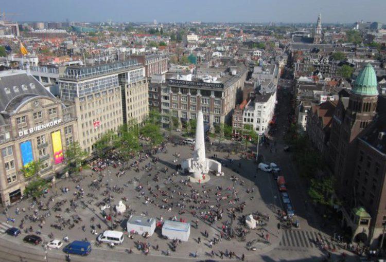 Площадь Дам в Амстердаме - достопримечательности Амстердама, Голландия