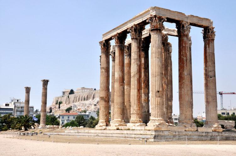 Олимпийский храм Зевса Олимпийского - достопримечательности Афин