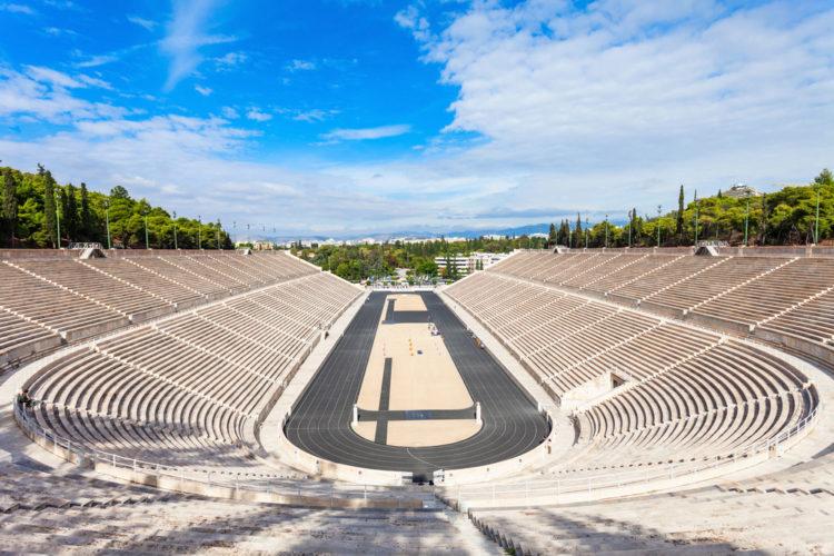 Стадион Panathenaic - многоцелевой стадион - достопримечательности Афин
