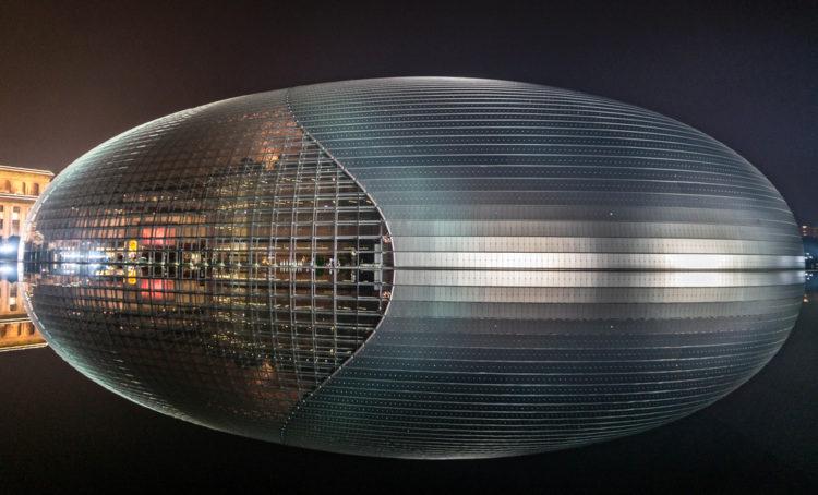 Национальный центр исполнительских искусств - «Яйцо» - достопримечательности Пекина