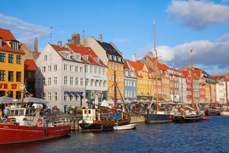 Ньюхавн - канал в Копенгагене - достопримечательности Копенгагене, Дания