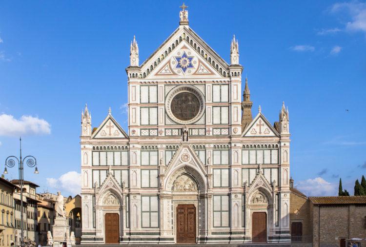 Базилика Санта-Кроче во Флоренции - достопримечательности Флоренции, Италия