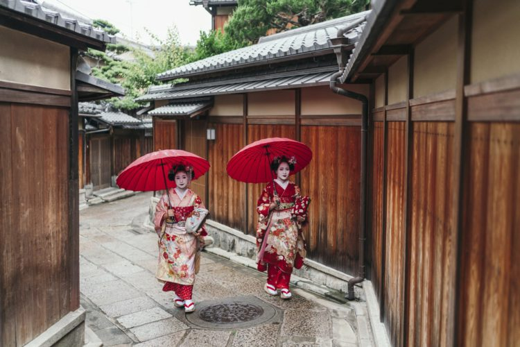 Район или квартал Гион - достопримечательности Киото, Япония