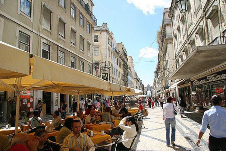 Улица Аугушта в Байше - достопримечательности Лиссабона, Португалия