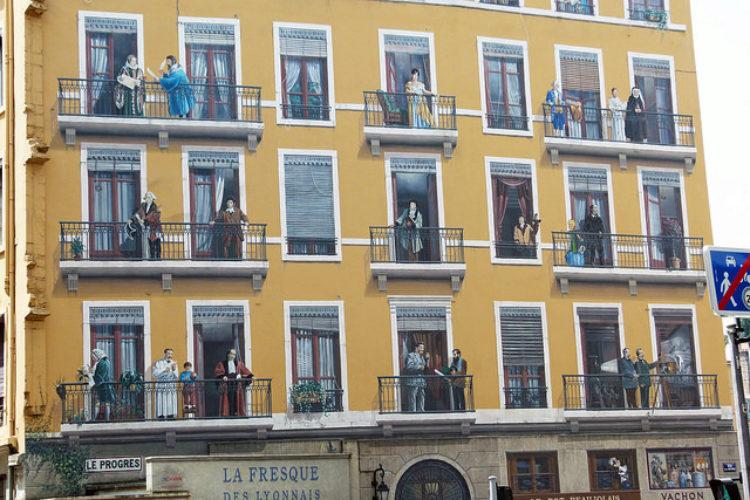 Фреска «Знаменитые лионцы» (Fresque des Lyonnais) - достопримечательности Лиона, Франция