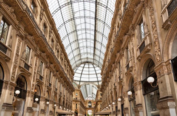 Галерея Виктора Эммануила II (Galleria Vittorio Emanuele II) в Милане - достопримечательности Милана, Италия