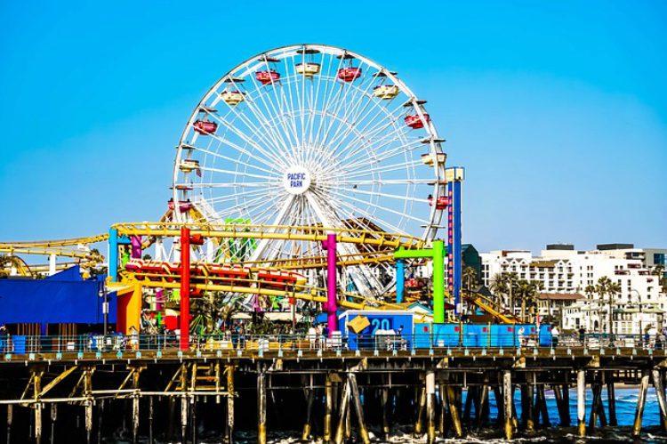 Пирс Санта-Моники в Лос-Анджелесе - достопримечательности Лос-Анджелеса, Калифорния, США