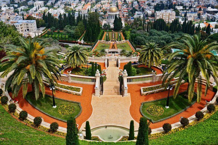 Бахайские сады - достопримечательность Хайфы, Израиль
