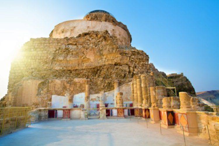 Крепость Массада вид изнутри